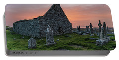 Doolin Ireland Graveyard At Sunrise Portable Battery Charger