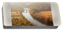 Dordogne River In The Mist Portable Battery Charger