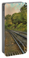 Portable Battery Charger featuring the photograph Down The Track by Leigh Kemp
