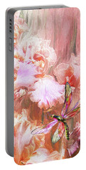 Dragonfly And Iris Portable Battery Charger