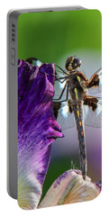 Dragonfly On Iris Portable Battery Charger