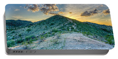 Dramatic Mountain Sunset Portable Battery Charger