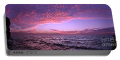 Dramatic Ocean And Sky Scene After Sunset Portable Battery Charger