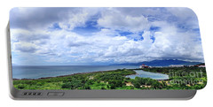 Dramatic Sky And Coastal Scenery Portable Battery Charger