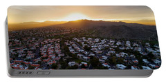 Dramatic South Mountain Sunset Portable Battery Charger