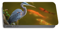 Dreaming Tricolor Heron Portable Battery Charger