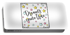 Dreams Come True - Baby Room Nursery Art Poster Print Portable Battery Charger