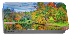 Portable Battery Charger featuring the photograph Dreams Of Fall In The Finger Lakes by Lynn Bauer
