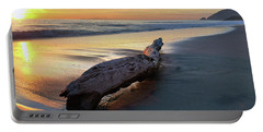 Drift Wood At Sunset II Portable Battery Charger