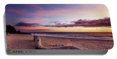 Driftwood At Sunset Portable Battery Charger