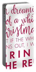 Portable Battery Charger featuring the digital art Drink The Red by Nancy Ingersoll