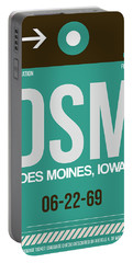 Dsm Des Moines Luggage Tag II Portable Battery Charger