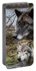 Dual Wolves Portable Battery Charger