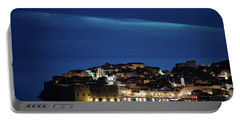 Dubrovnik Old Town At Night Portable Battery Charger