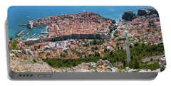 Dubrovnik Panorama From The Hill Portable Battery Charger