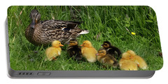 Duck And Cute Little Ducklings Portable Battery Charger