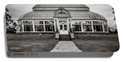 Portable Battery Charger featuring the photograph Duke Farms Conservatory by Steve Stanger