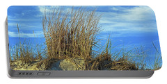 Portable Battery Charger featuring the photograph Dune Grass In The Sky by Bill Swartwout Fine Art Photography