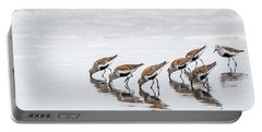 Dunlins Feeding Portable Battery Charger