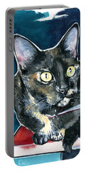 Duquesa Tortie Cat Painting Portable Battery Charger