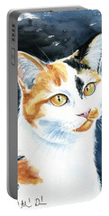 Dushi Calico Cat Painting Portable Battery Charger