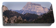 Portable Battery Charger featuring the photograph Dusk At Pena Montanesa by Stephen Taylor