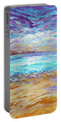 Dusk At The Beach Portable Battery Charger