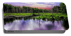 Dusk Falls Over New England Beaver Pond. Portable Battery Charger