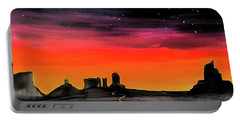 dusk in Monument Valley Portable Battery Charger