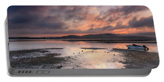 Dusky Pink Sunrise Bay Waterscape Portable Battery Charger