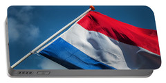 Portable Battery Charger featuring the photograph Dutch Flag by Anjo Ten Kate