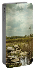 Portable Battery Charger featuring the photograph Dutch Landscape. by Anjo Ten Kate