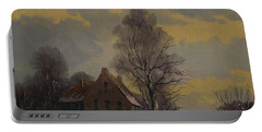 Dutch Snow Landscape Portable Battery Charger