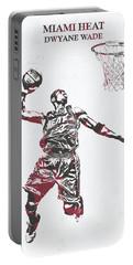 Dwyane Wade Miami Heat Pixel Art 50 Portable Battery Charger