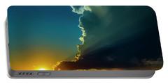 Dying Nebraska Thunderstorms At Sunset 068 Portable Battery Charger