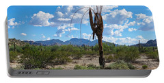 Dying Saguaro In The Desert Portable Battery Charger