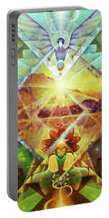 Eagle Boy And The Dawning Of A New Day Portable Battery Charger