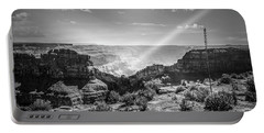 Eagle Rock, Grand Canyon In Black And White Portable Battery Charger