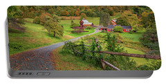 Early Fall At Sleepy Hollow Farm Portable Battery Charger