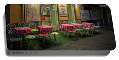 Portable Battery Charger featuring the photograph Early Morning, Bar Mimi, Sorrento, Italy  by Tim Bryan