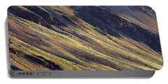 Early Morning Light On The Hillside In Sarchu Portable Battery Charger