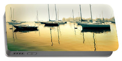 Early Mornings At The Harbour Portable Battery Charger