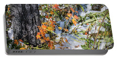 Portable Battery Charger featuring the photograph Early Snow by Philip Rispin