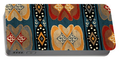 East African Heart And Diamond Stripe Pattern Portable Battery Charger