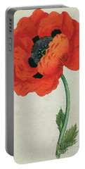 Eastern Poppy Papaver Orientale Portable Battery Charger