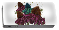 Echinacea Flower Skirts Portable Battery Charger
