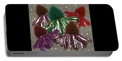 Echinacea Flowers Dance Portable Battery Charger