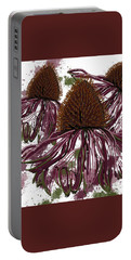 Echinacea Flowers Line Portable Battery Charger