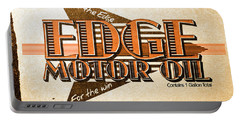 Edge Motor Oil Tin Sign Portable Battery Charger