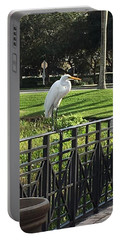 Egret Posing Portable Battery Charger